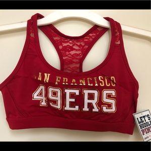 NWT Rare Limited Ed. VS SF Niners Sports Bra 49ers